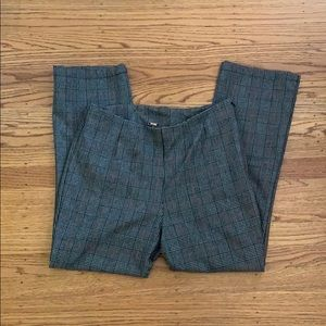 Free People Gray Plaid Trousers Size 8